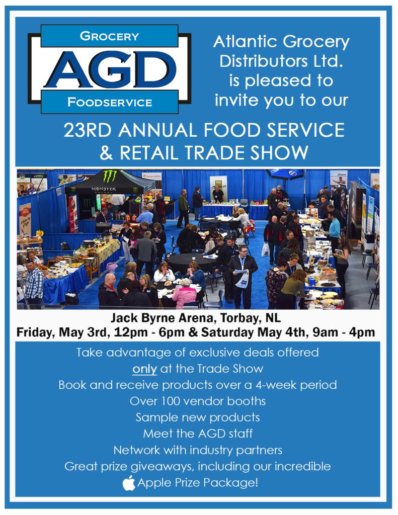 AGD 23rd Annual Trade Show - Atlantic Grocery Distributors Ltd